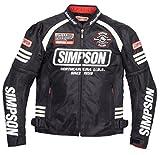 SIMPSON ジャケット メッシュジャケット ブラック/ホワイト MSJ-6117