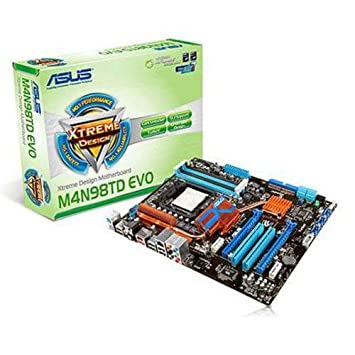 ASUS M4N98TD EVO Carte-mère ATX nForce 980a SLI Socket AM3 UDMA133, SATA-300 (RAID), eSATA Gigabit Ethernet FireWire audio HD (8 canaux)