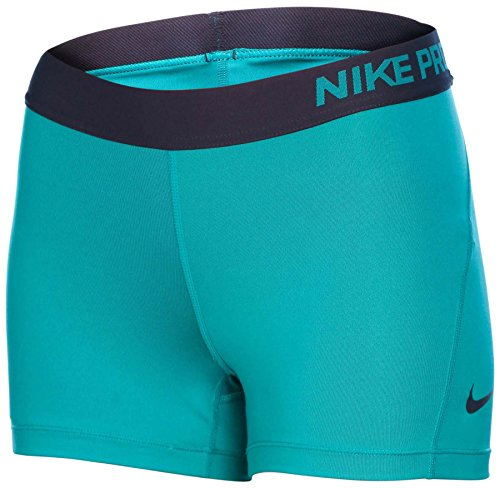 """Nike Womens Pro 3"""" Cool Compression Training Short Teal Charge/Obsidian MD x 3"""