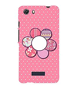 printtech Pattern Flower Back Case Cover for Micromax Q372 Unite 3