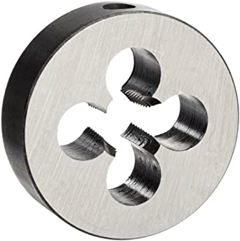 "Union Butterfield 2010(NPT) Carbon Steel Round Threading Die, Uncoated (Bright) Finish, 1/4""-18 Thread Size"