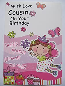 Birthday Cake Images For Cousin Sister : PRINCESS FAIRY PERSONALISED BIRTHDAY GREETING CARD MUM ...