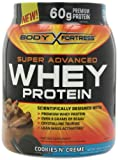 Body Fortress Super Advanced Whey Protein, Cookies N Cream, 1.95 Pounds