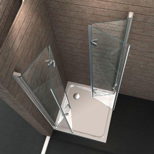 Dusche Eckeinstieg Glas : Eckeinstieg Dusche Echt Glas 90 x 90 x 195 cm CLAP ohne Duschtasse