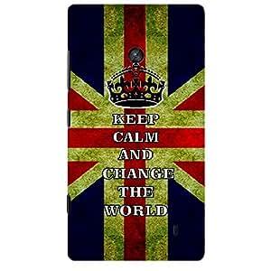 Skin4gadgets Keep Calm and Change the World - Colour - UK Flag Phone Skin for NOKIA LUMIA 520