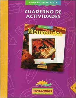Cuaderno De Actividades Bienvenidos invitaciones 1.1 Houghton Mifflin