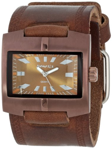 nemesis-homme-bbd060b-racing-sport-collection-braided-coppertone-brown-on-brown-montre