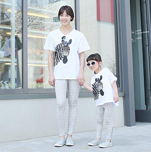 [ニューライフスカイ]子供服 親子ペア 短袖 子供の服 シマウマ 縞馬 斑馬 lbertz0029 (110)
