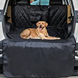 iCode™ Pet Car Seat Cover with Waterproof Non Slip Durable Material and Pet Seatbelt (Luxury Series, Cargo Liner-42〃X78〃)
