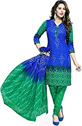 RR Fashion Women's Cotton Unstitched Dress Material (RRF2014_Blue)
