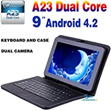 """Goldengulf 9"""" Inch Dual Core Dual Camera + Leather Keyboard Case Latest MID Google Android 4.2 Tablet PC Capacitive..."""