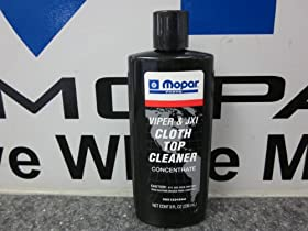 CHRYSLER DODGE JEEP CONVERTIBLE CLOTH TOP CLEANER OEM