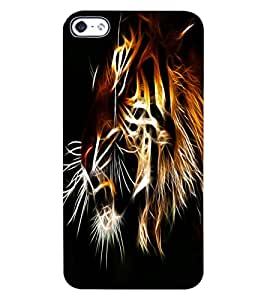 ColourCraft Tiger Look Design Back Case Cover for APPLE IPHONE 4
