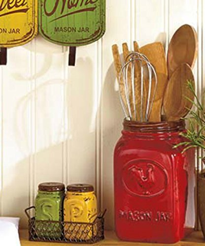 red-rooster-rustic-utensil-holder-vase-primitive-mason-jar-tuscan-french-country-kitchen-decor-by-kn