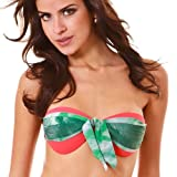 Leafs Red Bandeau Top (MEDIUM)