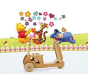 Clest F&H Winnie The Pooh amar Pegatina Adhesivo vinilo decorativo pared Letras Removible habitación del bebé