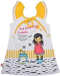 Absorba Baby Girls' Dress ( Yellow_4-5 Years ,60008)
