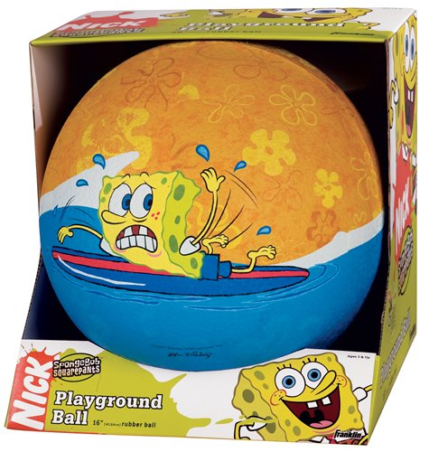 Buy SpongeBob SquarePants 16″ Rubber Playground Ball by Franklin Sports