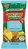 Guiltless Gourmet No Salt Yellow Corn Organic Baked Tortilla Chips, 7-Ounce Bags (Pack of 12)