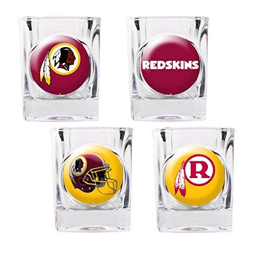 Washington Redskins 4pc Collector's Shot Glass Set