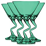 Libbey Aqua Z Shaped Stem Martini Glasses 9 oz. set of 4 - Additional Vibrant Colors Available by TableTop King