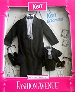 Barbie KEN & TOMMY Matchin' Styles Fashion Avenue FORMAL WEAR Clothes: TUXEDOS (1998)