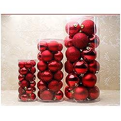 Vivian Multicolor Multi Christmas Tree Balls Christmas Tree Decoration (M, Red)