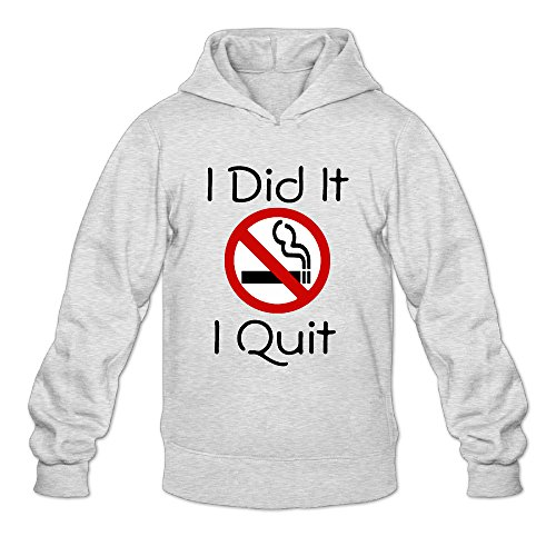 DVPHQ Men's Best Quit Smoking Hoodies Size XXL Ash (Hp Hard Drive Toaster compare prices)