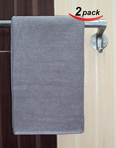 "2 Pack - Premium 100% Cotton Hand Towel 16"" x26"" Assorted Collection (Grey) By La Vivien"