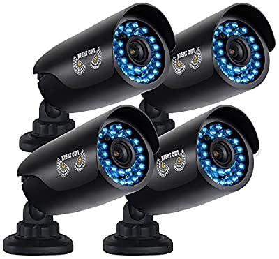 Night Owl Security 4 pack of Indoor/Outdoor 720p Security Bullet Cameras with 100ft. of Night Vision **Only compatible with AHD Series DVRs**