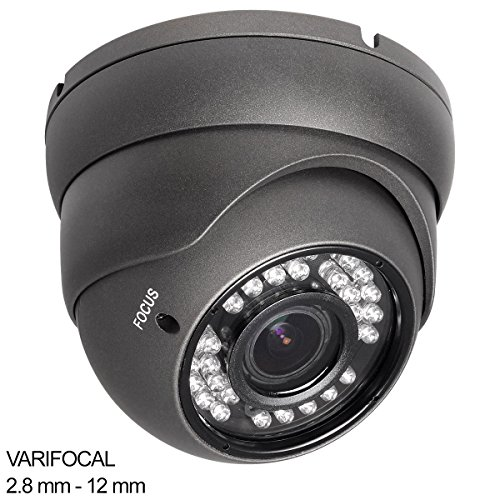 R-Tech RVD70B 1000TVL Outdoor Dome Security Camera with Night Vision and 2.8-12mm Varifocal Lens (Outdoor Wireless Ip Camera compare prices)