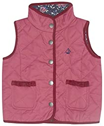 JoJo Maman Bebe Quilted Gilet (Baby) - Raspberry-12-18 Months