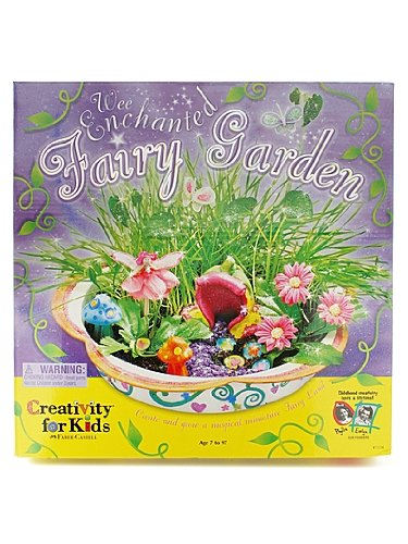 NEW Enchanted Fairy Garden Kit Girls christmas present idea gift FREE ...