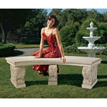 Hot Sale Design Toscano NE70605 Stone Garden Bench