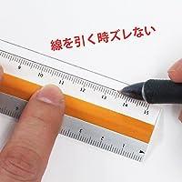 モチモノ 滑らない 定規 ピタットルーラー 15cm オレンジ