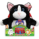 Pop Out Pets Kittens, Reversible Plush Toy, Get 3 Stuffed Animals in One - Tuxedo, Snowball & Tabby Cats, 8 in.