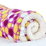 Micat® Super Soft Fleece-Haustier-Bett Bettdecken Welpen-Hundekatze Kissen Mats Vary von 9 Arten von Designs (XL:100*75cm, 009)
