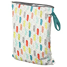 Planet Wise Large Wet Diaper Tote Bag, Quill, Large