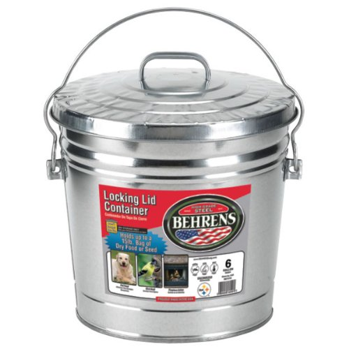 Behrens 6106 6-Gallon Locking Lid Can