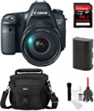 Canon EOS 6D Digital Camera with Canon 24-105mm f/4.0L IS USM AF Lens + SanDisk 64 GB High-Speed Card + Lowepro Bag + Spare Battery + Accessory Kit