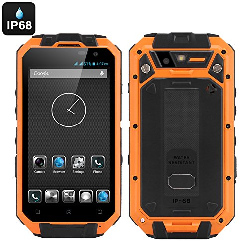 T3S - Smartphone robuste Android IP68 / CPU Quad Core / RAM 1Go / Écran QHD 4.3 pouces / Dual SIM / Caméra 13MP / Orange