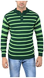 Globate Men's Blended Sweater (134 grn, Green, Free Size)
