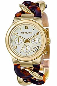 2b6ac50943fe Michael Kors Chain Link Acrylic Gold-tone Ladies Watch MK4222