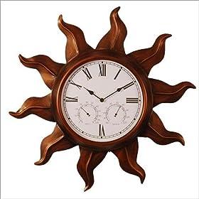 Copper Sun Indoor-Outdoor Wall Clock