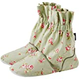 Aroma Home Green Rose Bud Pattern  Microwaveable Feet Warmers