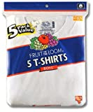 Fruit of the Loom Boys 5 Pack Crew Neck Tee, White, Medium