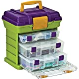 """Stow 'N Go 16-1/2"""" Rack System: Lime/Periwinkle/Chocolate"""