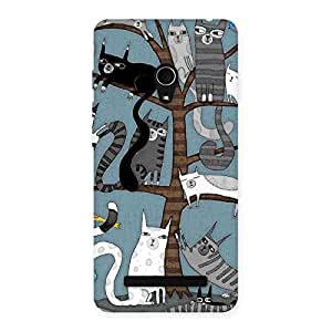 Special Cat On Trees Print Back Case Cover for Zenfone 5
