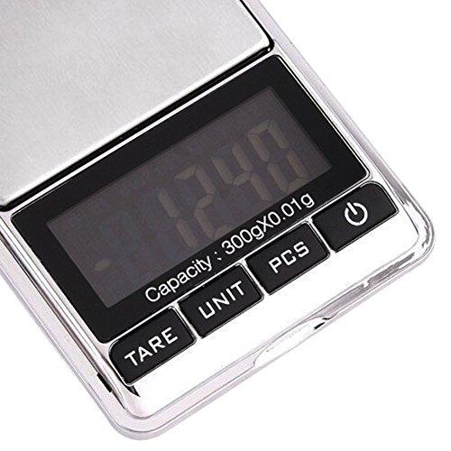 Aoklea Mini Balance Fonction Comptage Electronique Haute Precision 300g/0.01g pour Bijoux Cuisine