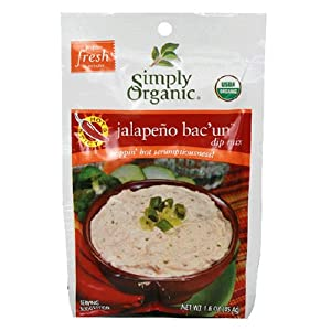 Simply Organic Dip Mix Spicy Jalapeno Bacun 16-ounce Packets Pack Of 12 by Simply Organic